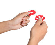 Hand gear Royalty Free Stock Image