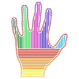 Farbige Hand Lizenzfreie Stockfotos