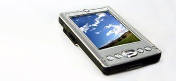 Hand - gehouden computer royalty-vrije stock afbeelding