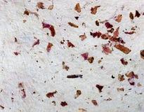 Hand - gemaakt document met roze bloemblaadjes macro Royalty-vrije Stock Afbeelding
