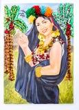 Hand - gemaakt draadportret Royalty-vrije Stock Afbeelding