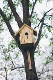Hand - gemaakt vogelhuis Royalty-vrije Stock Foto's