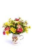Hand - gemaakte bloemen op geïsoleerd Royalty-vrije Stock Foto