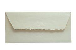 Hand - gemaakte document envelop Stock Afbeelding