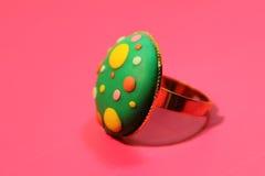 Hand - gemaakte juwelenring Royalty-vrije Stock Afbeeldingen