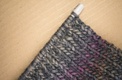 hand - gemaakte melange wol gebreide stof Royalty-vrije Stock Afbeelding