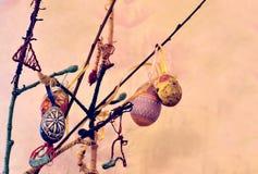 Hand - gemaakte Pasen-tak Stock Foto