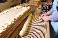 Hand - gemaakte pretzels Stock Foto