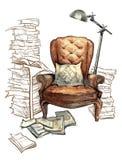 Hand - gemaakte schets van comfortabele binnenlandse elementen Royalty-vrije Stock Afbeelding