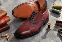Hand - gemaakte schoenen Royalty-vrije Stock Afbeelding