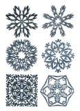 Hand - gemaakte sneeuwvlokken Stock Fotografie