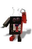 Hand - gemaakte stuk speelgoed robot Stock Afbeelding