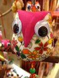 Hand - gemaakte uilen Stock Afbeeldingen