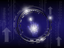 Hand Geomatric Abstract Background. EPS 10 Vector Royalty Free Illustration
