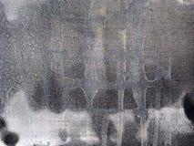 Hand geschilderd canvas in grijze kleuren met verfvlekken Stock Foto's