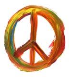 Hand geschilderd vredesteken Stock Foto