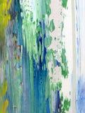 Hand geschilderde abstracte achtergrond Royalty-vrije Stock Afbeeldingen
