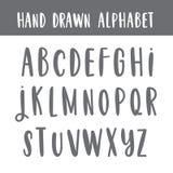 Hand geschreven alfabet in vector Stock Fotografie