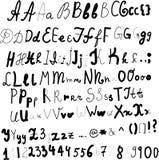 Hand geschreven alfabet in vector Stock Afbeelding