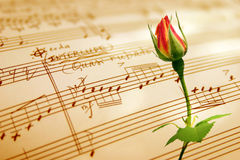 Hand geschreven muziekblad royalty-vrije stock afbeeldingen