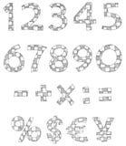 Hand geschriebene checkered Zahlen Lizenzfreies Stockbild