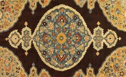 Hand gesponnene Teppich-Hintergrund-Auszugs-Auslegung Stockfoto
