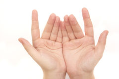 Hand gesture Stock Photography