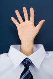 A hand gesture Stock Images
