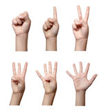 Hand gesture body language Royalty Free Stock Image