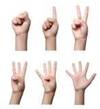 Hand gesture body language Royalty Free Stock Image