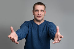 Hand gesture concept Royalty Free Stock Photo