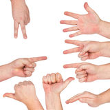 Hand gesture Stock Photos