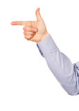 Hand gesture direction Stock Image