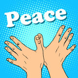 Hand gesture dove of peace Stock Image