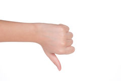 Hand gesture of female isolated Stock Photo