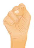 Hand gesture - fist. Vector illustration Stock Images