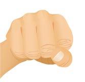 Hand gesture - fist. Vector illustration Stock Photography