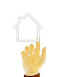 Hand gesture on house Stock Photography