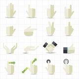 Hand gesture icons. This image is a vector illustration Stock Photos