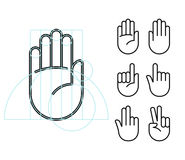 Hand gesture icons Stock Image
