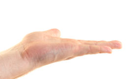 Hand gesture of invitation to keep fingers Royalty Free Stock Photo