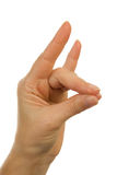Hand gesture: making animal Royalty Free Stock Images