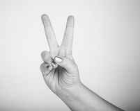 Hand gesture, meaning Royalty Free Stock Image