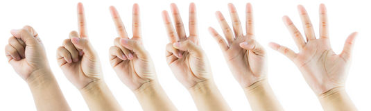 Hand gesture number Royalty Free Stock Photo