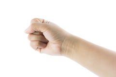 Hand gesture number zero Stock Photos
