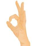 Hand gesture - OK. Vector illustration Stock Photo