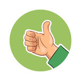 Hand gesture ok. Eps10 vector illustration.  on white background Stock Photos
