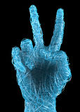 Hand gesture peace, victory Royalty Free Stock Images