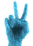 Hand gesture peace, victory Stock Image
