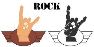 Hand gesture rock. Hand sign rock. Flat design,  illustration Royalty Free Stock Images